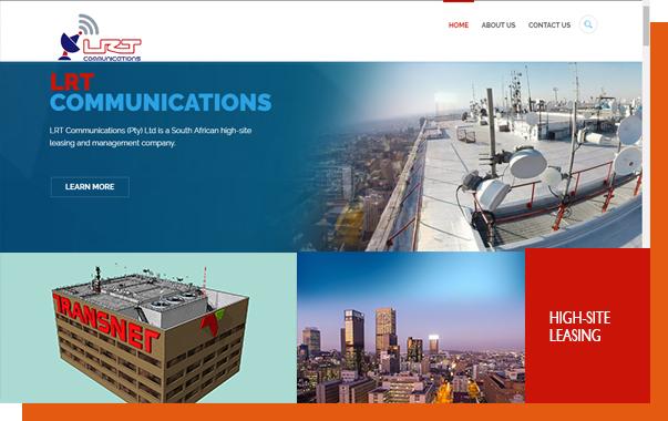 LRT COMMUNICTIONS TRANSNET BUILDING WEBSITE DESIGN